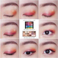64 Trendy Make-up Paso Ein Paso-Koreaner - Schönheit Korean Makeup Look, Korean Makeup Tips, Asian Eye Makeup, Korean Makeup Tutorials, Asian Eyeshadow, Eyeshadow Base, Eye Makeup Glitter, Makeup Eyeshadow, Makeup Brushes