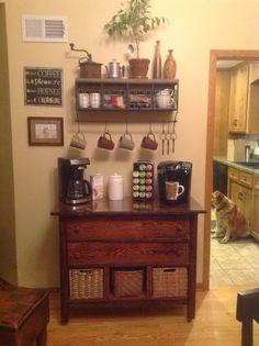 Finaly i know what to do at the empty wall in the kitchen. Coffee Station! Genious