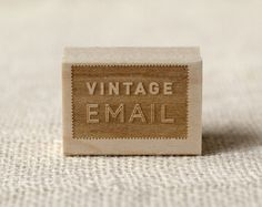 Rubber Stamp  Vintage Email by witandwhistle on Etsy, $18.75