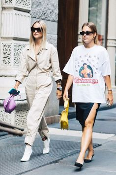 Ever wondered how to wear an oversize T-shirt somewhere other than bed? We're highlighting the coolest ways to wear your too-big tee.