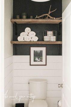 Epic Best 20+ Bathroom Shelves Over Toilet Design Ideas That Will More Useful https://freshouz.com/best-20-bathroom-shelves-over-toilet-design-ideas-that-will-more-useful/ #home #decor #Farmhouse #Rustic