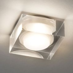 Square glass flush fitting LED downlight, energy efficient and rated for bathroom use. Requires a LED driver. Bathroom Ceiling Light, Bathroom Lighting, Ceiling Lights, Vancouver, Recessed Spotlights, House Paint Color Combination, Can Lights, Spot Lights, Exterior Paint Colors For House