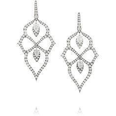 Stephen Webster Belle Epoque 18-karat white gold diamond earrings (€33.975) ❤ liked on Polyvore featuring jewelry, earrings, accessories, brincos, white gold, white gold diamond pendant, diamond pendant jewelry, diamond pendant, pave diamond pendant and chandelier pendants