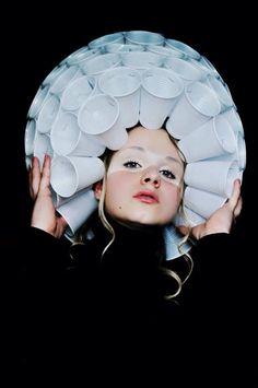 Plastic cup hat (1)