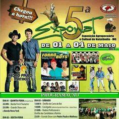 Dia 03 de maio Natalândia-MG tem Pedro Paulo e Matheus www.ppem.com.br no Exponat