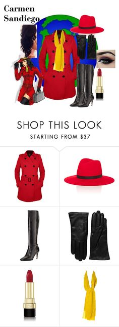 """""""Carmen Sandiego"""" by nchavez113 on Polyvore featuring Hemisphere, Janessa Leone, Cole Haan, Saks Fifth Avenue Collection, Dolce&Gabbana, Ardell and Kenzo"""