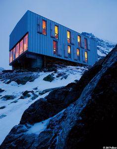 Le refuge Topali, dans les Alpes suisses