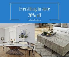 Furniture, artwork, mirrors, accessories all 20% off. Ends 3/19/2016