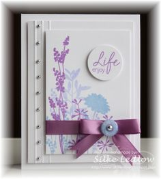 lovely handmade card ... like the asymetrical layout ... great colors ...