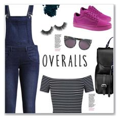 """Overalls!"" by christinacastro830 ❤ liked on Polyvore featuring Cheap Monday, STELLA McCARTNEY, Aspinal of London, Vans, Miss Selfridge and Laura Mercier"