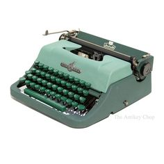 Green Underwood Jewell Typewriter from The Antikey Chop