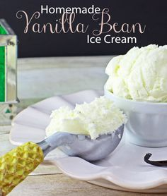 This is a delicious and simple Homemade Vanilla Bean Ice Cream Recipe. We use REAL Vanilla beans and trust me they do make a real difference! Try it!