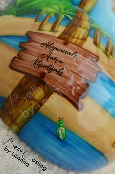 Beach theme belly cast with hand painted information. Dont by Belly Casting by Leanna. Belly Casting, Beach Themes, It Cast, Hand Painted