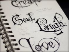 Experiments in lettering..by Joshua Bullock