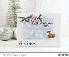 Simple By Design Christmas Cards To Make, Christmas Tag, Christmas Crafts, Pretty In Pink, Joy Taylor, Winter Cards, Little Boxes, Scrapbook Supplies, Cute Cards