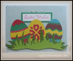 Easter card using images from the Cricut subscription in Design Space and Close To My Heart stamp (D1633) www.craftysisterscreations.com