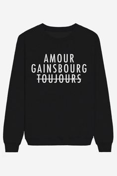Rad | Sweater Amour Gainsbourg Toujours - FRAICHE