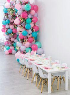 Baby Unicorn Theme Party set up