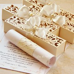 Wedding box invitations scroll roll Card Template swirl cutting file (svg dxf ai eps png p Quince Invitations, Box Invitations, Laser Cut Wedding Invitations, Wedding Invitation Cards, Wedding Stationery, Wedding Cards, Scroll Invitation, Thanks Card Wedding, Cricut Wedding