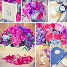 King Valley Golf Club - Wedding Reception Flowers in Pink and Purple 4