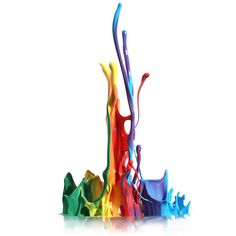 Colorful paint splashing isolated on white ❤ liked on Polyvore featuring backgrounds, effects, rainbow, art, splashes, fillers, embellishments, text, quotes and saying