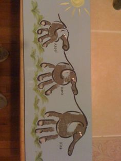 Handprint elephants - I couldn't pay the price at the zoo when I could make them myself at home! by carlani