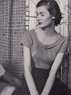 Beau Catcher by Women's Day, 1950. free pattern