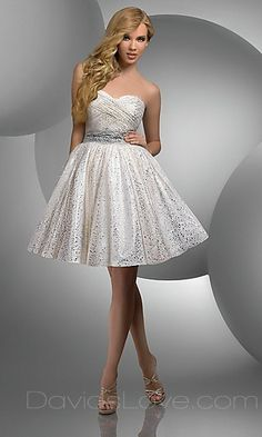 Super cute homecoming dress maybe or short wedding dress