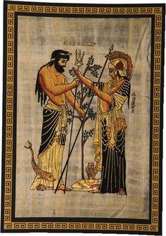 Mythology about Athena and Poseidon