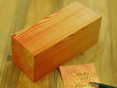 Wooden Block Sticky Notes