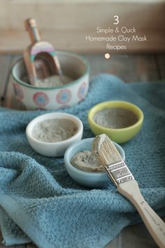 Acne-fighting, pore-cleansing, moisturizing homemade face masks recipes. Three…