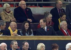 royalsourcefr:  Visit to Wales, November 8, 2014-The Duke and Duchess of Cambridge attended the rugby match between Wales and Australia at Millenium Stadium