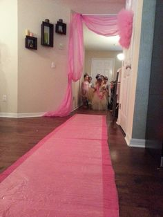 Princess party fashion show. going to do this when i have a little girl