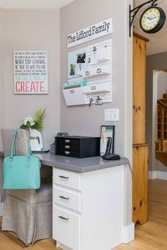 Nice idea for a kitchen command center.