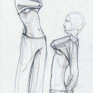 Irina Ternauciuc – Fashion sketch 11
