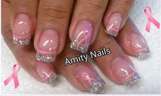 Arlen this made me think of you, Breast Cancer Awareness nails,