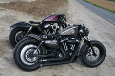 """His & hers, too bad I can't afford the bikes or the """"her"""" lol #harleydavidsonsportsterfortyeight #harleydavidsonbobbersfortyeight"""