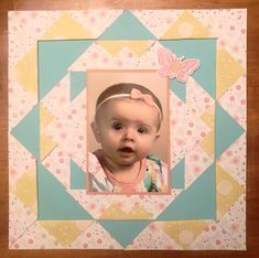 Scrapbook Layouts, Scrapbooking, Title Page, Baby Ideas, Frame, Home Decor, Picture Frame, Decoration Home, Room Decor