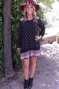 Picture of Bridgette Boho Dress (black-pink-multi)
