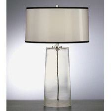 """Rico Espinet Olinda 22.75"""" H Table Lamp with Drum Shade by Robert Abbey / $287.50 at Wayfair / 22.75H 14.5Dia / Clear Glass, 3-way switch"""