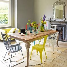 Perfect spaces for dinner a deux or feasts with friends