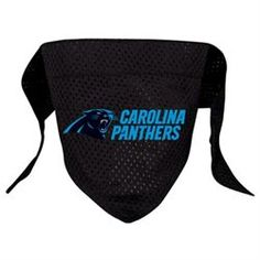 Dog lover and Carolina Panthers fan? Your best friend deserves a Panthers Dog Bandana. #CarolinaPanthers #DogLover