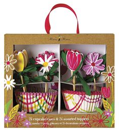 Meri Meri Cupcake Kits, Little Garden *** Special discounts just for this time only  : Baking desserts tools