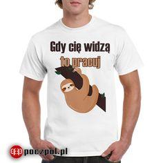 Gdy cię widzą to pracuj  #koszulka #koszulkamęska #koszulkaznadrukiem #tshirtprinting #tshirts #lenistwo #leń #leniwiec #praca #pracownik #korpo #korpobiurwa #biuro #biurwa #office #wpracy Oxford, Humor, Stranger Things, Funny, Mens Tops, T Shirt, Awesome, Fashion, Strange Things