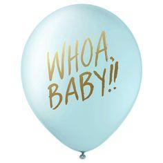 Whoa Baby! Designer Balloons - Blue - Inklings Paperie, Light Blue