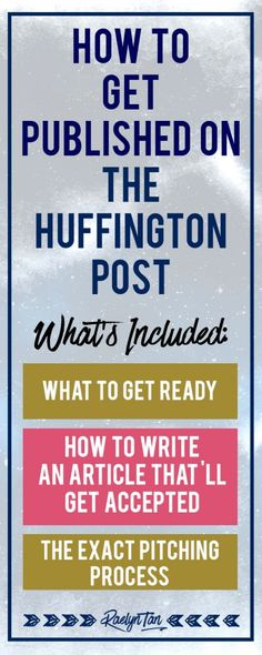 I did it! I've always wanted to be featured on the Huffington Post and my article is now live on HuffPost Business. Here's how you can get your guestpost published too!