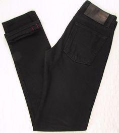Men Naked & Famous Black Chinos Selvedge Jeans Weird Guy Slim Straight  28 X 34 #NakedFamous #SlimStraight