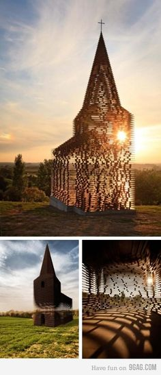 disappearing church....now that's enchanting