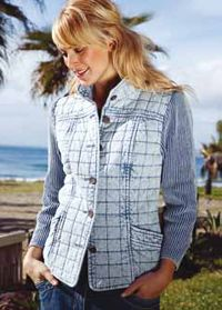 Quilted Jacket in Sky Blue