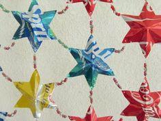 etté studios: DIY: Aluminum Can Stars